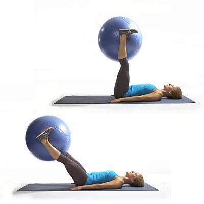 relevé de jambe ballon yoga